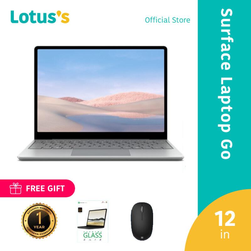 Microsoft Surface Laptop Go (THJ-00018) 12 i5/8GB/256GB Platinum + Ext. Warranty + Bluetooth Mouse (Random Color) Malaysia