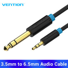 Vention dây kết nối âm thanh 3.5mmto 6.35mm Jack chuyển đổi 3.5 sang 6.5 ly 3.5mm to 6.35mm Adapter Aux Cable for Mixer Amplifier Guitar Bi-direction 6.5 Jack to 3.5 Jack Male to Male Audio cable