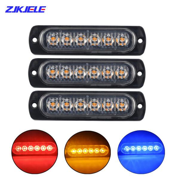 Đèn LED Nhấp Nháy Khẩn Cấp 6 Đèn LED Sáng Cao Đèn Cảnh Báo Bên Hông Đèn LED Màu Hổ Phách Nhấp Nháy Đèn Cảnh Sát 12/24V Tốt Cho Xe Hơi Và Xe Cộ