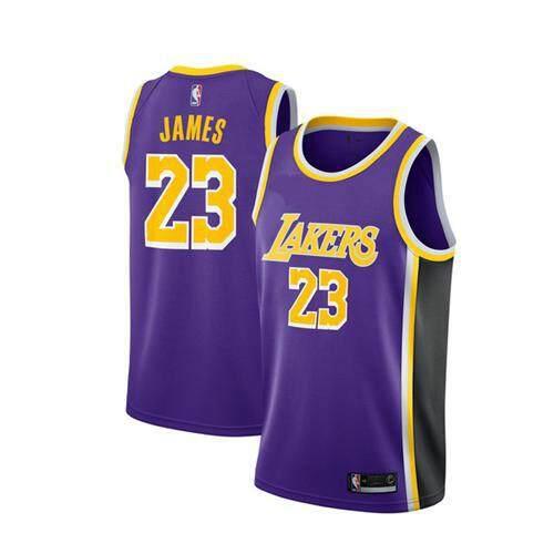 sale retailer fc9f6 ad3de Black #23 LeBron James Swingman Jersey Men's NBA Los Angeles Lakers  Basketball Clothes Official Authentic Team Color City Edition