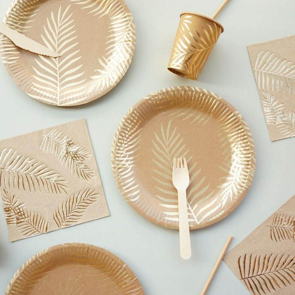 57pcsset Gold Disposable Tableware Set Paper Plates Cup Straws Birthday Party Wedding Decor Carnival Baby Shower Party Supplies