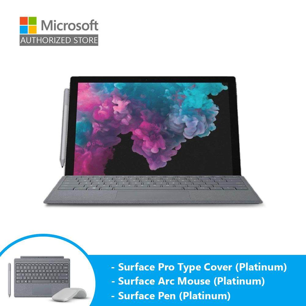 Microsoft Surface Pro 6 (i5/8GB/128GB/12 /Windows 10) + Type Cover (Platinum) + Pen (Platinum) + Arc Mouse (Platinum) Malaysia