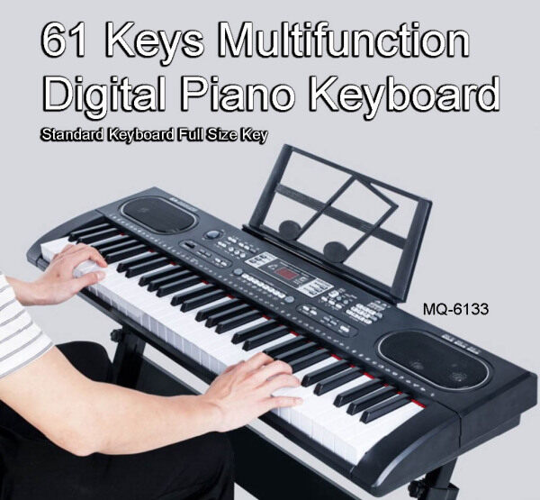61 Keys Digital Piano Keyboard Electronic Keyboard Full Size Key Beginner Keyboard Multifunction Free Stand Free Mini Microphone Free Book Stand Malaysia
