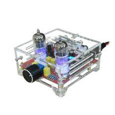 XH-A201 Hifi 6J1 Class A Bile Tube Preamplifier Amplifier Audio Finished Board With Acrylic Chassis