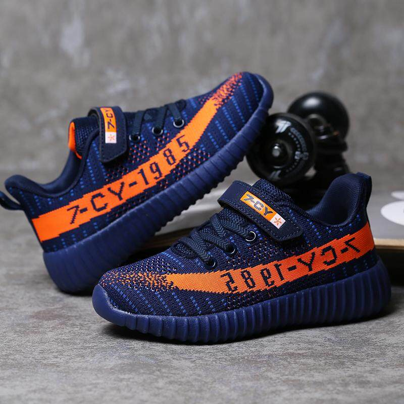 Mã Giảm Giá Trẻ Em Giày Lưới Bé Trai Giày Handmade Trơn Trượt Trên Giày Bé Trai Bé Gái Giày Casual Thể Thao Giày Trẻ Em