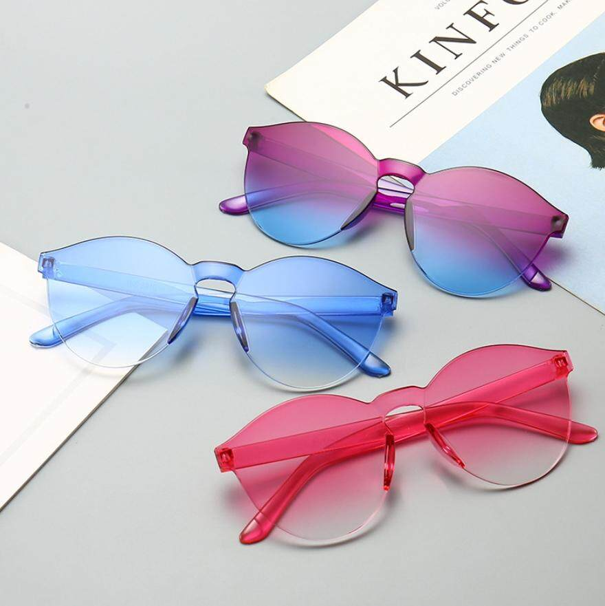 9c3528f7f9fb Ready Stock 10 colors HOT Integrated UV Candy Colored Glasses Women Fashion  Cat Eye Shades Sunglasses
