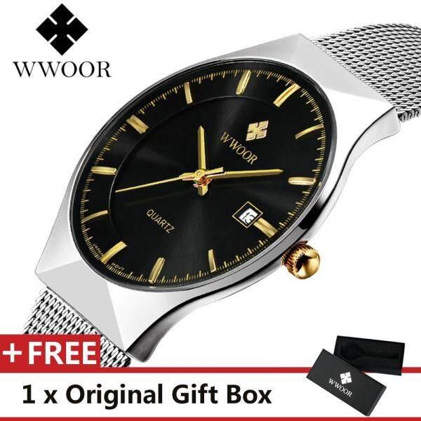 WWOOR 8016 Top Luxury Brand Watch For Man Fashion Sports Men Quartz Watches Trend Wristwatch Gift For Male jam tangan lelaki Malaysia