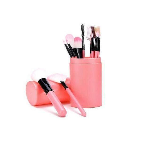 12 Cái Makeup Brush Set Với Vòng Xi Lanh Chủ Eyeliner Powder Đường Viền Che Khuyết Điểm Eye Shadow Foundation Lip Vát Lông Mày Cọ tốt nhất
