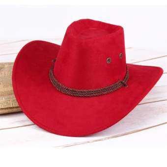 ผู้ชายผู้หญิงหมวกคาวบอยหมวกตะวันตกปีกกว้าง sunhat ฤดูหนาว