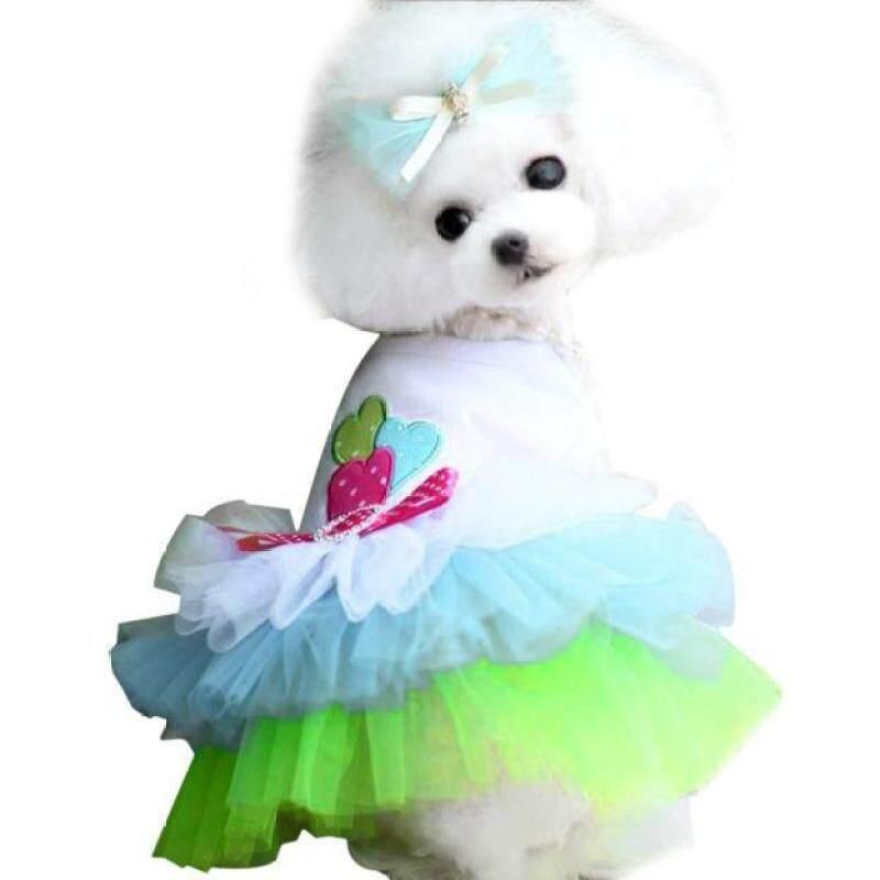 【Pet Shop】 Miễn Phí Vận Chuyển Chó Con Chó Nhỏ Mèo Váy Ren Công Chúa Trang Phục Váy Xòe Trang Phục