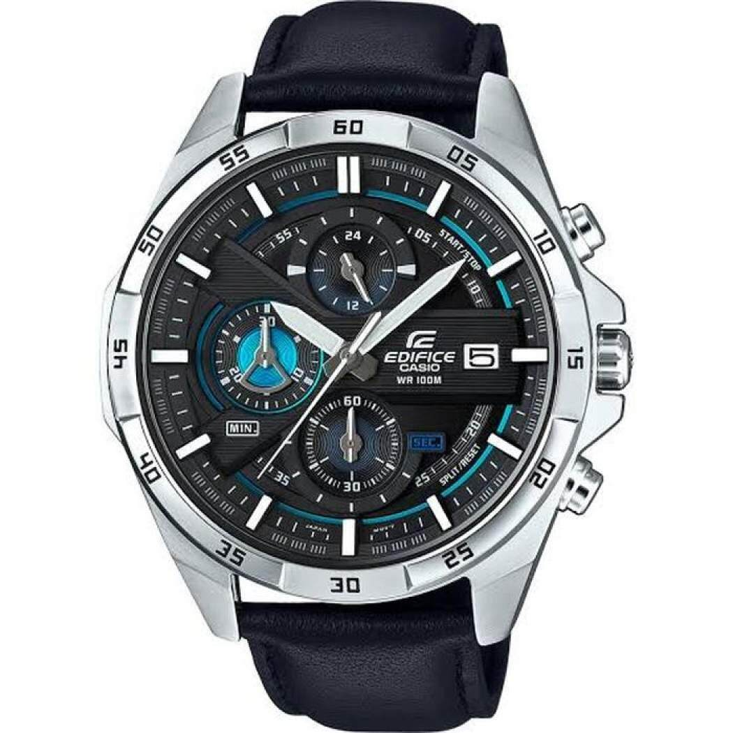Casio_Edifice Efr 539 Leather Strap Fashion Men Watch All Function Malaysia