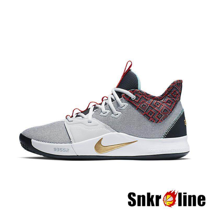 Discount Nike_PG 3 EP BHM 2019 Black History Month Original Men's Basketball Shoes Authentic Paul George_NBA Sneaker for Men Pure Platinum/Metallic Gold BQ6242-007