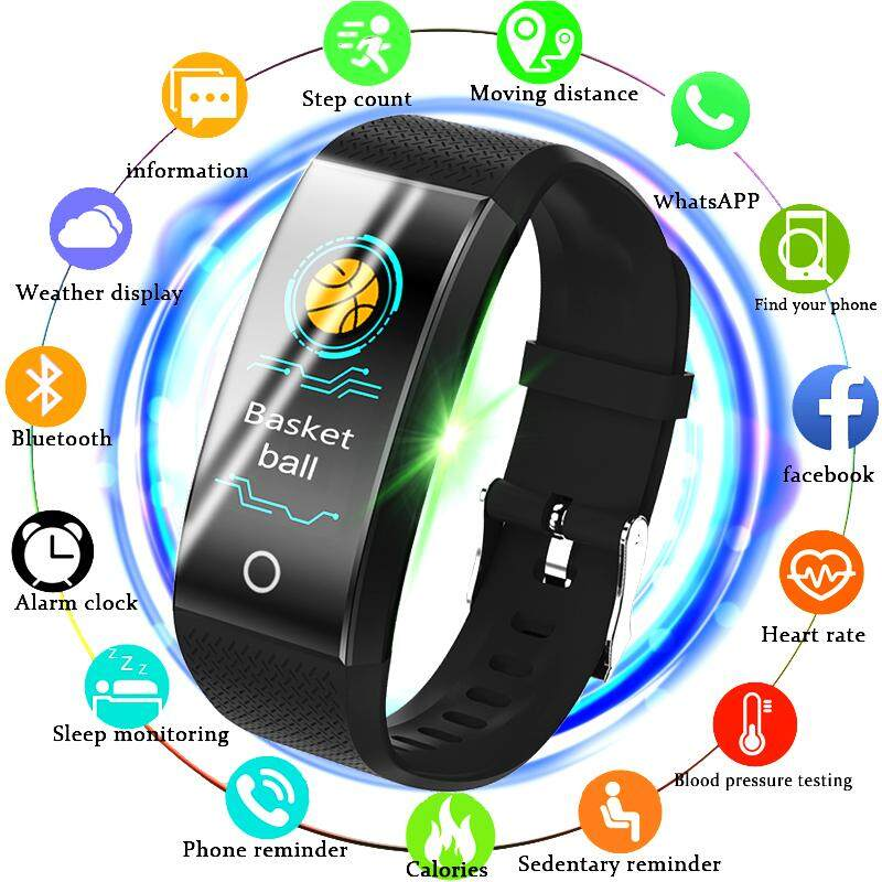 New Fitness Smart Watch Men Women Pedometer Heart Rate Monitor Waterproof IP67 Running Sport Smart Bracelet For Android IOS Malaysia