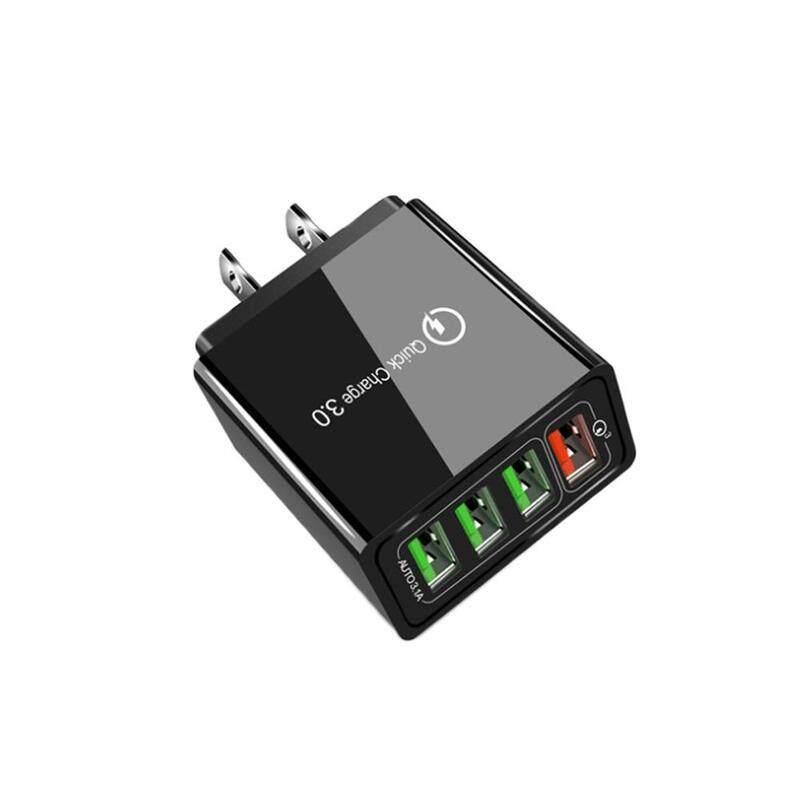 Giá 30W QC 3.0 Sạc Nhanh 4 Bộ Chia Cổng USB Bộ Sạc Gắn Tường Bộ Chuyển Đổi Điện US EU Phích Cắm Chuẩn Anh Quốc