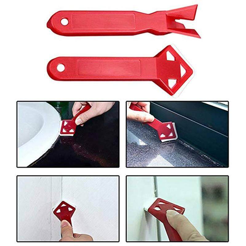 ZLOYI 2Pcs/set Home angle Joint Silicone Glass Cement Scraper Caulking Finishing Grout Sealant Remover Spreader Spatula Builders Tool