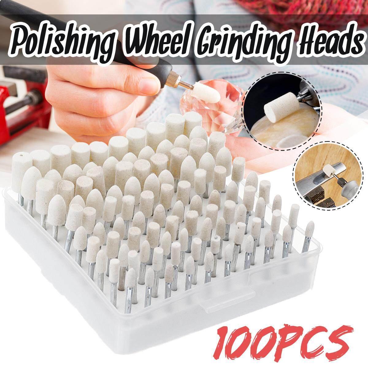 100 Chiếc Len Mài Đầu Đánh Bóng Hơi Đa Năng 3mm Vít 4-12mm Đầu