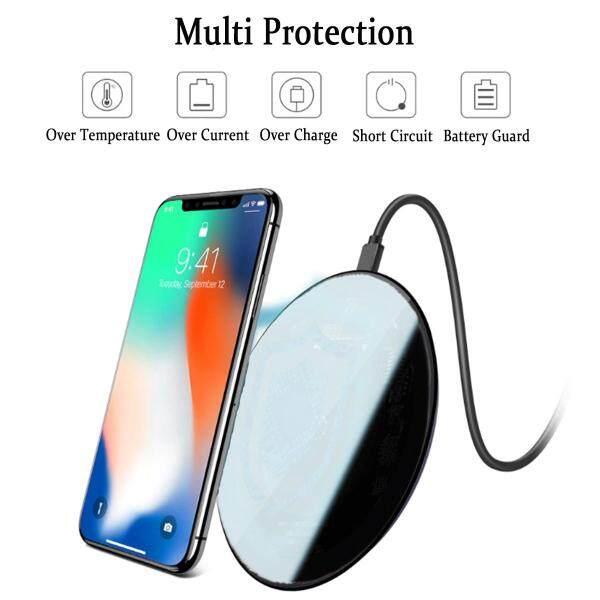 10W TỀ Sạc Nhanh Không Dây Gương Sạc Miếng Lót Cho Iphone XS XR Samsung S9