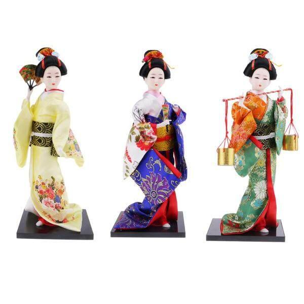 Mua Fityle 3 cái Nhật Bản Kimono phụ nữ Búp bê đồ trang trí nội thất hình người búp bê thủ công