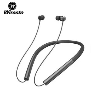 Wiresto Magnetic Neckband Bluetooth Earphones Wireless Soft Silicone Earbuds 20H In-Ear Headphones IPX5 Waterproof Dual Noise Reduction Long Time Wearing Sport Headphone Hifi Sound Headset with HD Microphone thumbnail