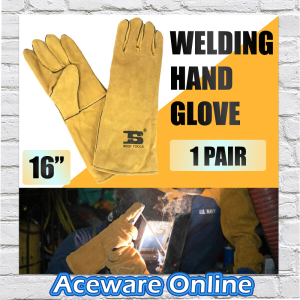 1 Pair of 16 BOSI Welding Leather Hand Glove BS470151