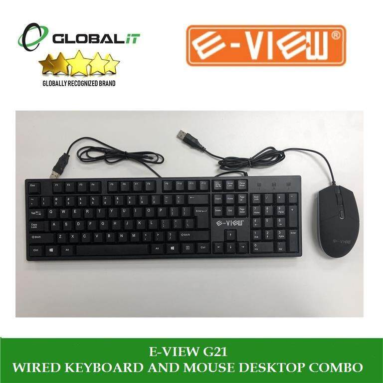 (New) E-VIEW G21 WIRED KEYBOARD AND MOUSE DESKTOP COMBO Malaysia