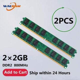 Walram RAM 4GB (2X2GB) 2PCS DDR2 800MHz PC2 6400U 240PIN DIMM PC Máy Tính Để Bàn Bộ Nhớ Mật Độ Thấp RAM thumbnail