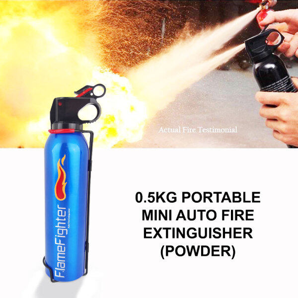 66 Happy Tool Ready Stock Portable Car / Home 0.5KG FlameFighter Mini Auto Fire Extinguisher 500G Automotive Household (Powder)