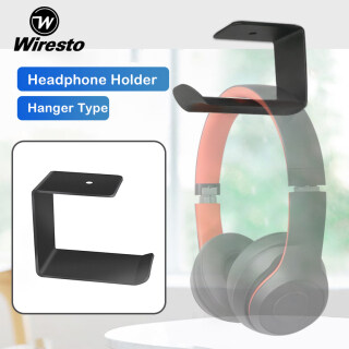 Wiresto Rack Over the Ear Headphone Holder Headset Stand Universal Size Headphone Stands Aluminum Alloy Stand Headset Holders Headphone Display Holder Easy Installation Gaming Headset Hanger Brackets Wholesale Stylish Storage Hanger thumbnail