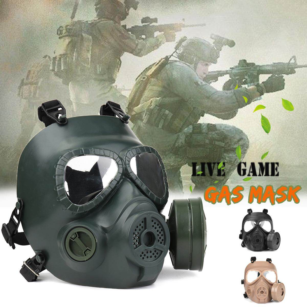 M04 Gas Mask Outdoor Field Tactical Anti-Riot Protective Mask Full Face  Single Fan Mask for Cosplay Protection Gear Wargame