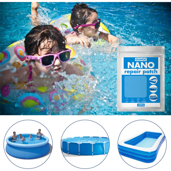 Dolity Waterproof Pool Repair Patch Clear Inflatables Puncture Tape Kits