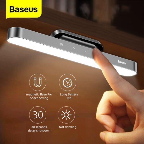 Bảng giá Đèn Bàn LED Treo Nam Châm Baseus Bàn Đèn Đèn Ngủ Cảm Ứng Không Dây Treo Đèn Nhà Bếp Để Học Đọc Sách Phòng Ngủ Đèn USB Điều Chỉnh Độ Sáng Vô Cấp