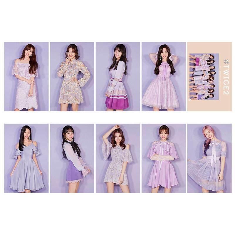 Linfang 10 Pcs/set Kpop Dua Kali Album Baru Fashion HD Kartu Foto Baik Kartu