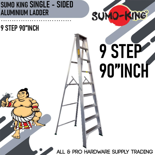 SUMO KING SINGLE SIDED LADDER 9 STEP 90INCH