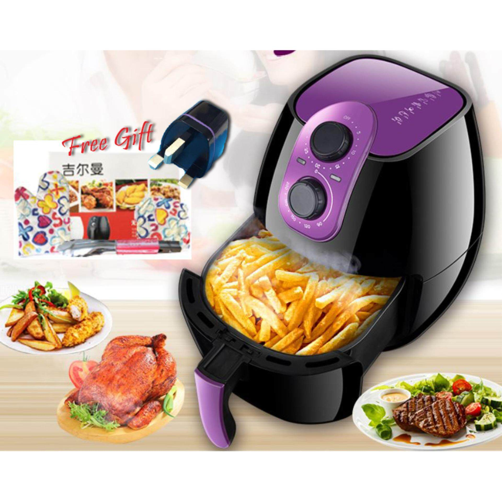 Giman 4l High Capacity Air Fryer (ak-8005) + Free Gift By Lp Kong Forever Lifestyle.