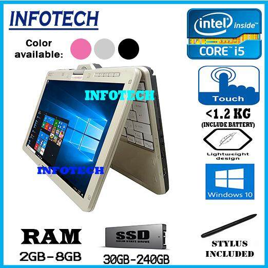 Fujitsu LifeBook T1 - 12.5 - Intel Core i5 2nd gen - 8 GB RAM - 240 GB SSD - Touch Screen with Stylus Pen - Wifi - Bluetooth Included MADE IN JAPAN ( refurbished ) Malaysia
