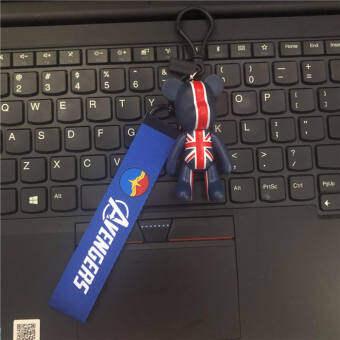 พวงกุญแจอเวนเจอร์สDIY Creativeแถบผ้าโลหะรถKeychain Justice Leagueกระเป๋าถือตกแต่ง