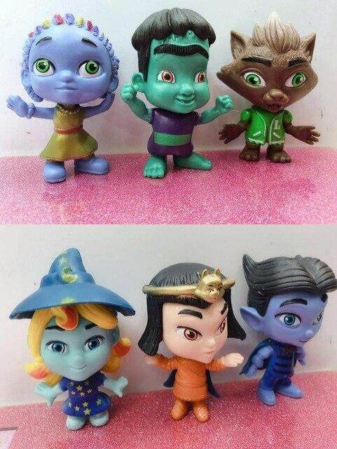 6pcs 3inch super monsters action figure doll cartoon anime PVC model toy d10