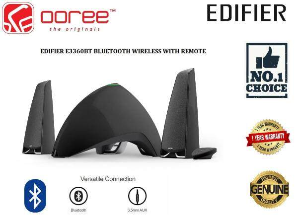 EDIFIER E3360BT 2.1 PRISMA ENCORE STYLISH BLUETOOTH SPEAKER WITH WIRELESS REMOTE CONTROL LED DIGITAL DISPLAY USB SD CARD INPUT Malaysia
