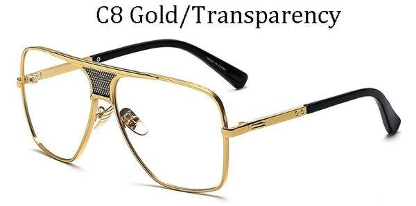 Giá bán 2020 Thời Trang Kim Loại Gradient Gọng Vuông Nam Kính Râm Thương Hiệu Thiết Kế Kính Lái Xe Kính Râm Cổ Điển Oculos De Sol