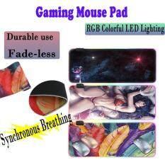 Tấm Lót Chuột Chơi Game Có Đèn LED Nhiều Màu RGB Lớn Chống Trượt 300mmX800mm Miếng Lót Chuột Mở Rộng Để Chơi Game Mềm Và Mượt