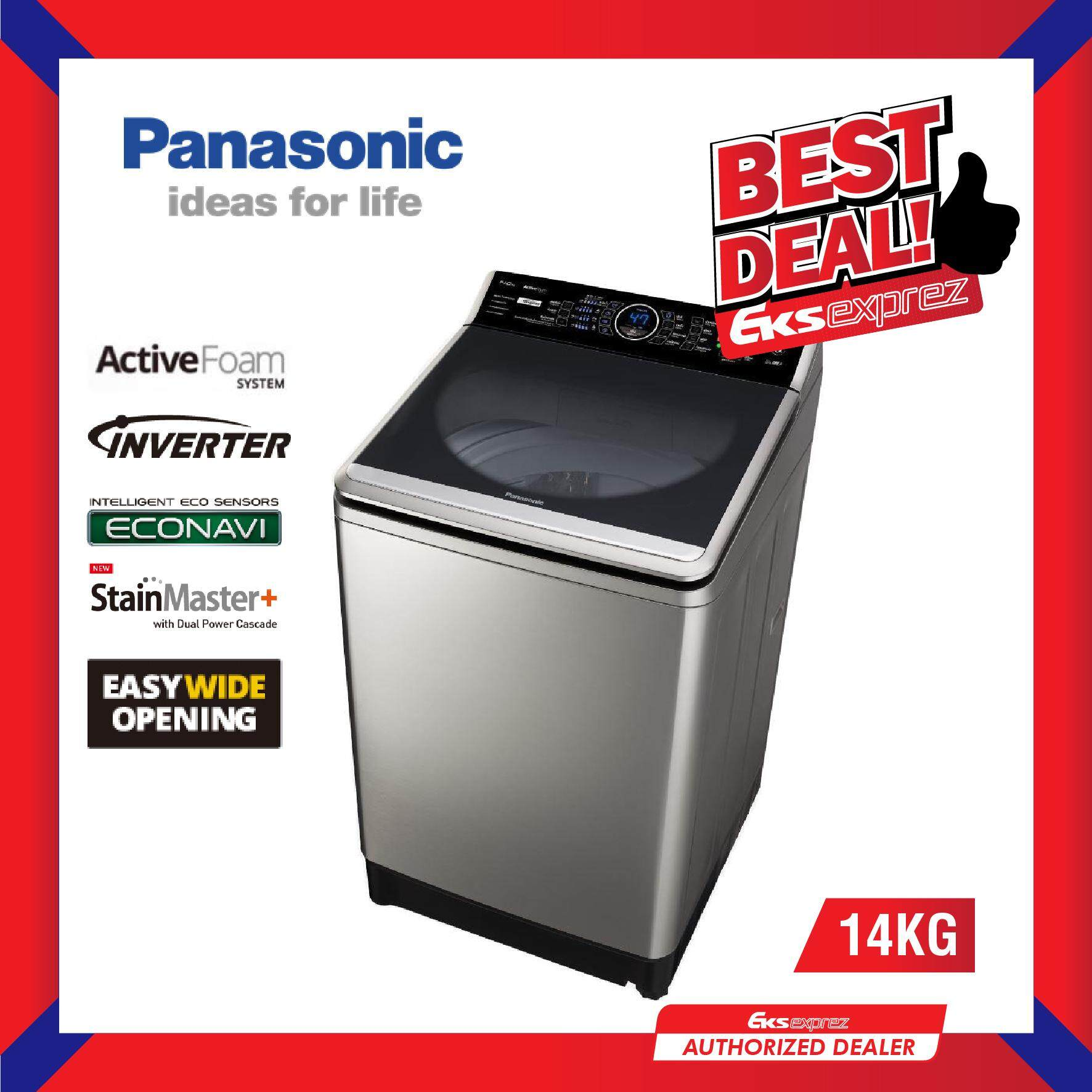 Panasonic NA-FS14V7SRT 14KG Inverter Top Load Washer / Washing Machine with StainMaster+ & ActiveFoam