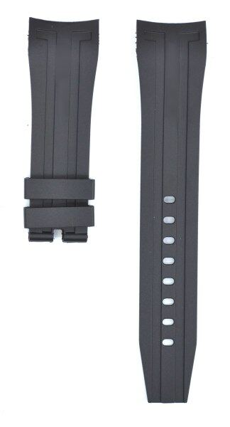 212ZTD Black Rubber Watch Strap Compatible With Rolex 24mm RLX107 Malaysia