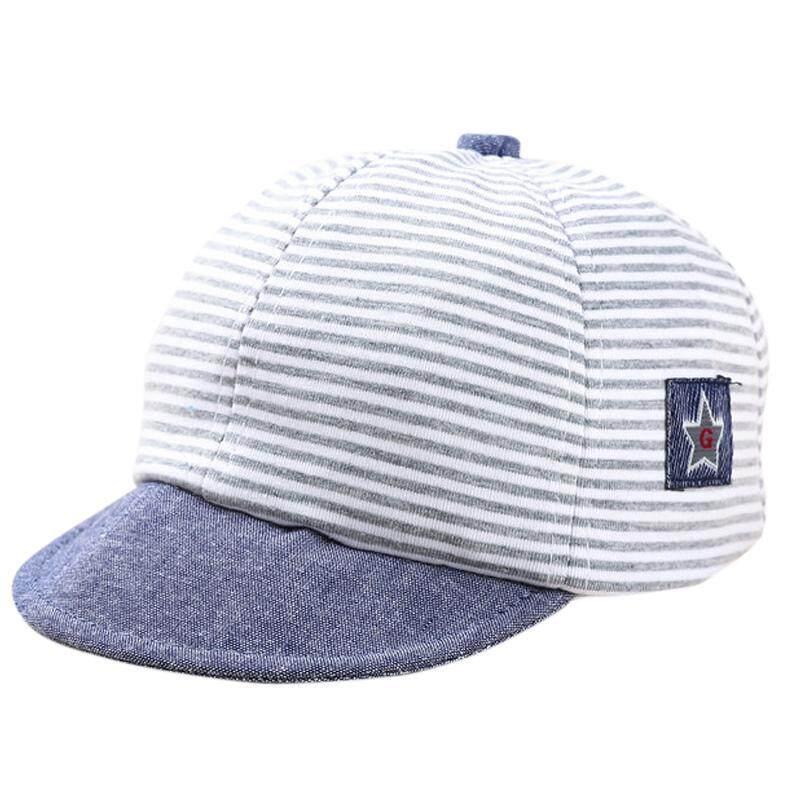 ฤดูร้อนแฟชั่นน่ารักเด็กหมวกมีลายผ้าฝ้ายผสมทารกหมวกเด็กผู้ชายปรับทารกหมวกสำหรับหญิง 1-2 T By Bbabyme.