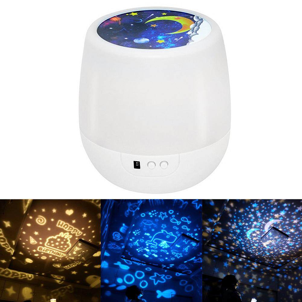 GUO Colorful star projector night light rotating starry night light USB charging