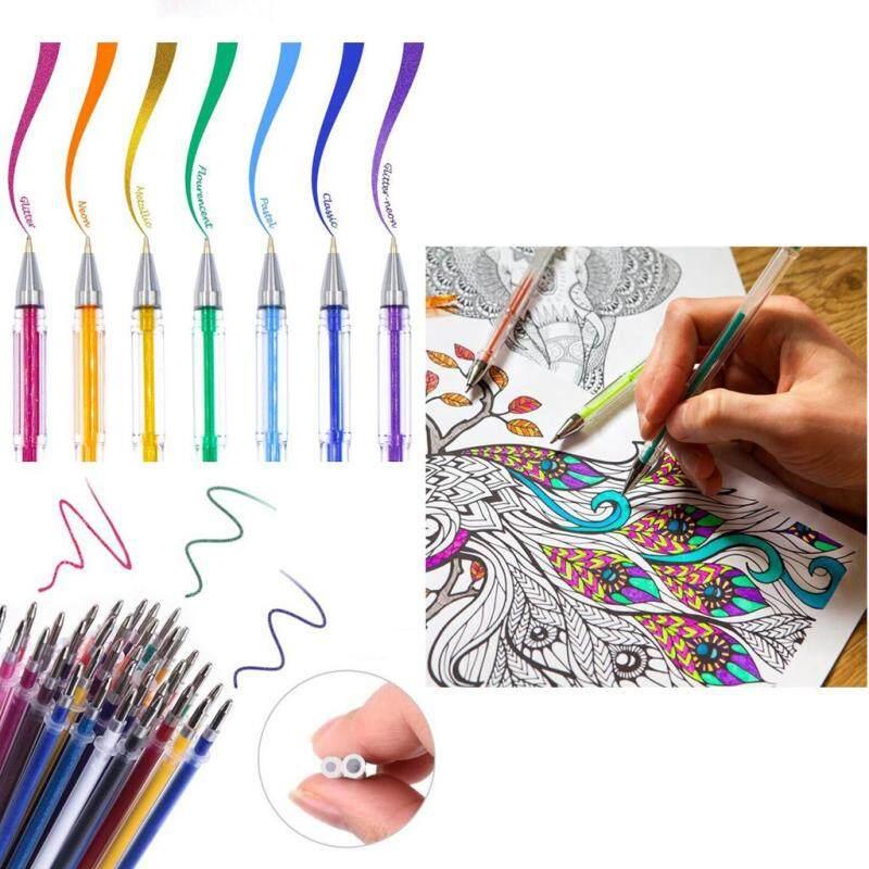 Mua Prettyia 1 Bộ/100 cái Nhiều Màu Sắc Trung Tính Bút Bút Gel Bút Huỳnh Quang cho Nghệ Thuật Vẽ