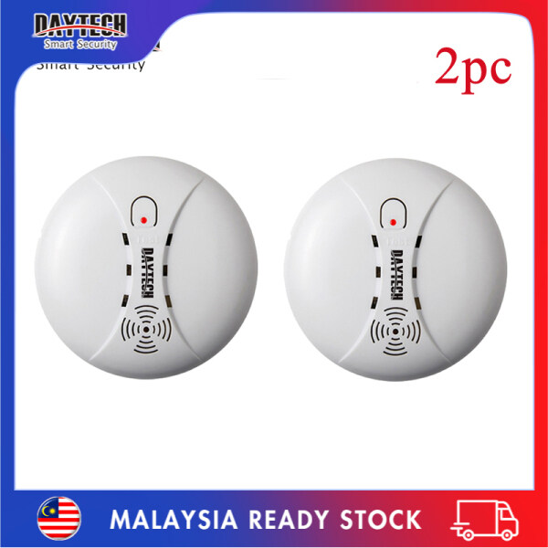 [Malaysia Ready Stock]Daytech Smoke Detector Fire Alarm Battery Powered Home Security 9V for Hotel/Restaurant/Home/School 2PCS SM02