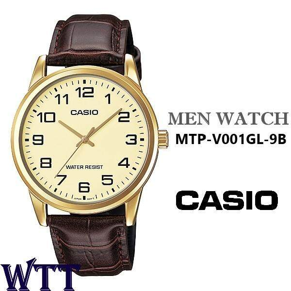CASIO ORIGINAL MTP-V001GL-9B ANALOG LEATHER MEN WATCH (MTP-V001GL) (WATCH FOR MAN / JAM TANGAN LELAKI / MAN WATCH / WATCH FOR MEN / CASIO WATCH FOR MEN / CASIO WATCH) Malaysia