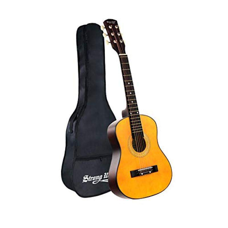 30 Inch Acoustic Guitar, Mini Guitars Instrument Beginner Kit For Kids/Beginners/Child With Gig Bag Natural Guitar(1/2 Size) Malaysia