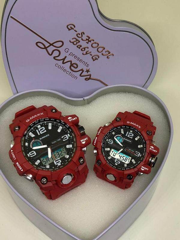 G-MAXX COUPLE WATCHES SET (BLACK RED) Malaysia