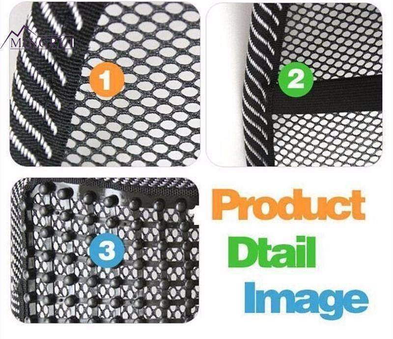 Massage Cushion Vent Mesh Back Lumber Support Brace Chair Car Seat Pad By Mingrui.